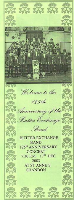 125th Anniversary Concert 2003