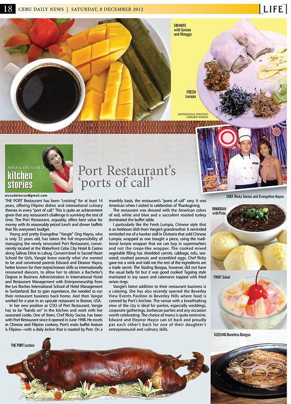 Reviews | Port Restaurant Waterfront Hotel Cebu