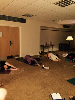Yin Yoga on retreat