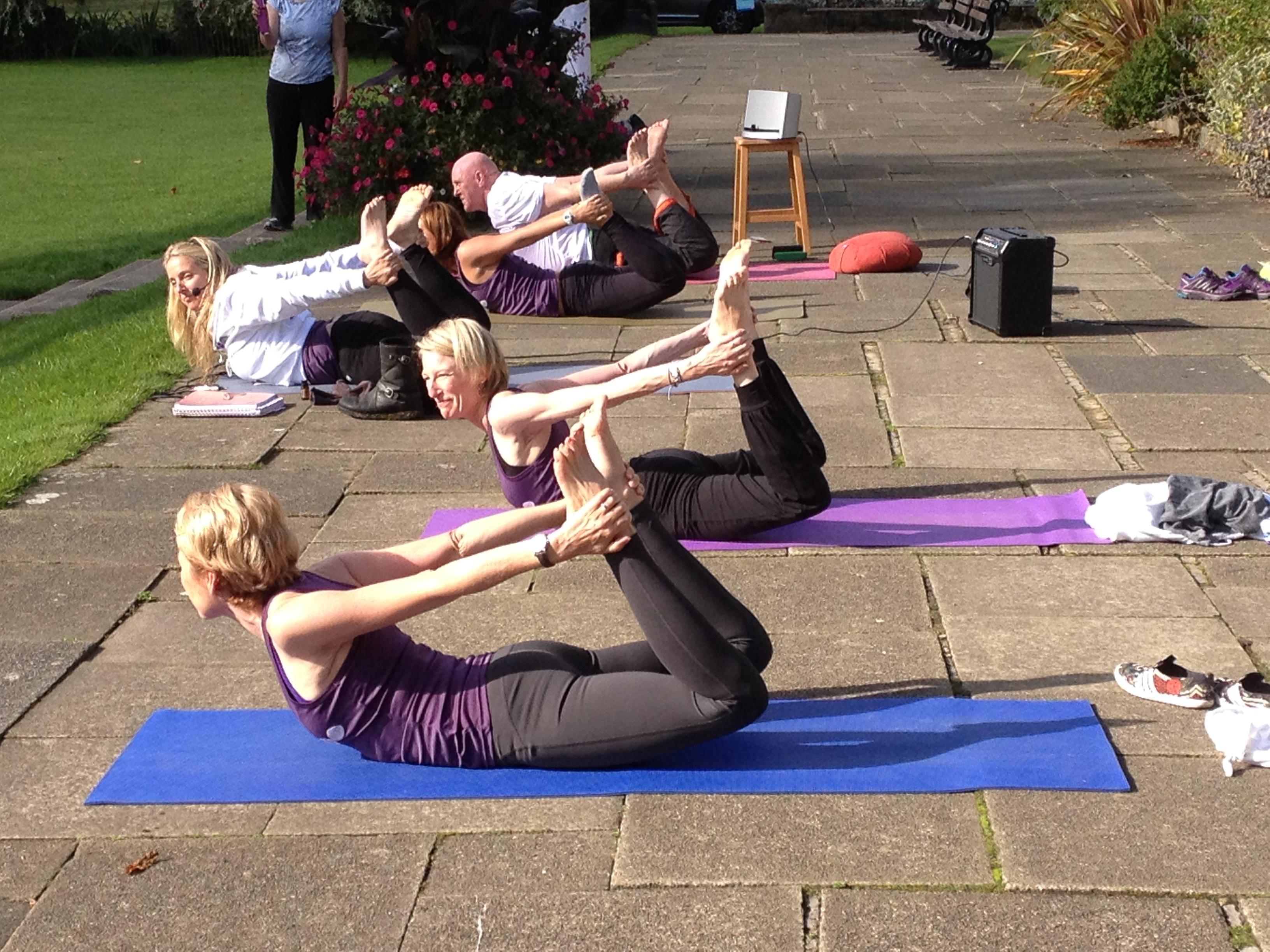 Yoga in the sunshine