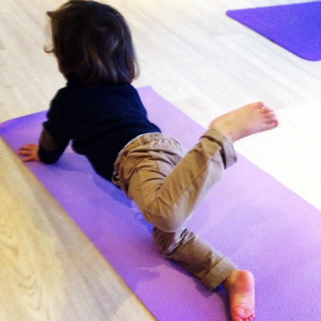Kids love yoga too