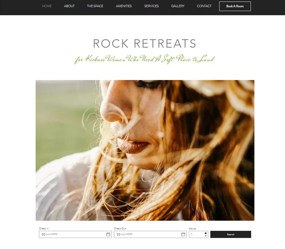 Rock Retreats Website