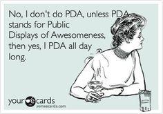 Do I PDA?