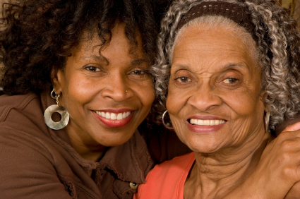 African American mother daughter