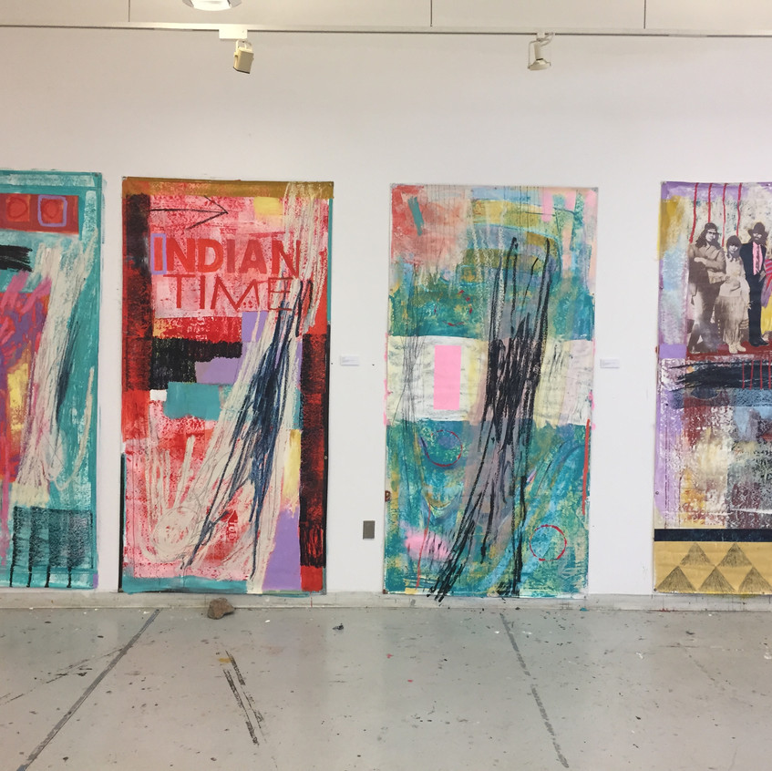 Reclaimed IAIA Banner Paintings