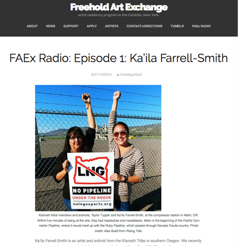 FAEx Radio: Episode 1: Ka'ila Farrell-Smith