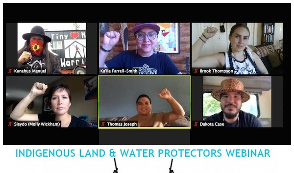 Across the Pacific Northwest, Indigenous land & water protectors are fighting back against the threat of oil & gas exports through their traditional lands. From Wet'suwet'en territory to the Klamath River and beyond, these battles to protect communities from the harm of the fossil fuel industry are connected.  Speakers on the webinar include Ka'ila Farrell-Smith (Klamath-Modoc Artist), Kanahus Manuel (Secwepemc and Ktunaxa) from Tiny House Warriors, Brook Thompson (Yurok and Karuk), Dakota Case (Puyallup Water Warriors), Thomas Joseph (Hoopa), and Sleydo' aka Molly Wickham from Gidimt'en Checkpoint. The panel will share stories from their struggles against the fossil fuel industry & colonization, examine the connections between these battles throughout the region, and tell you how to take action in solidarity with their communities.