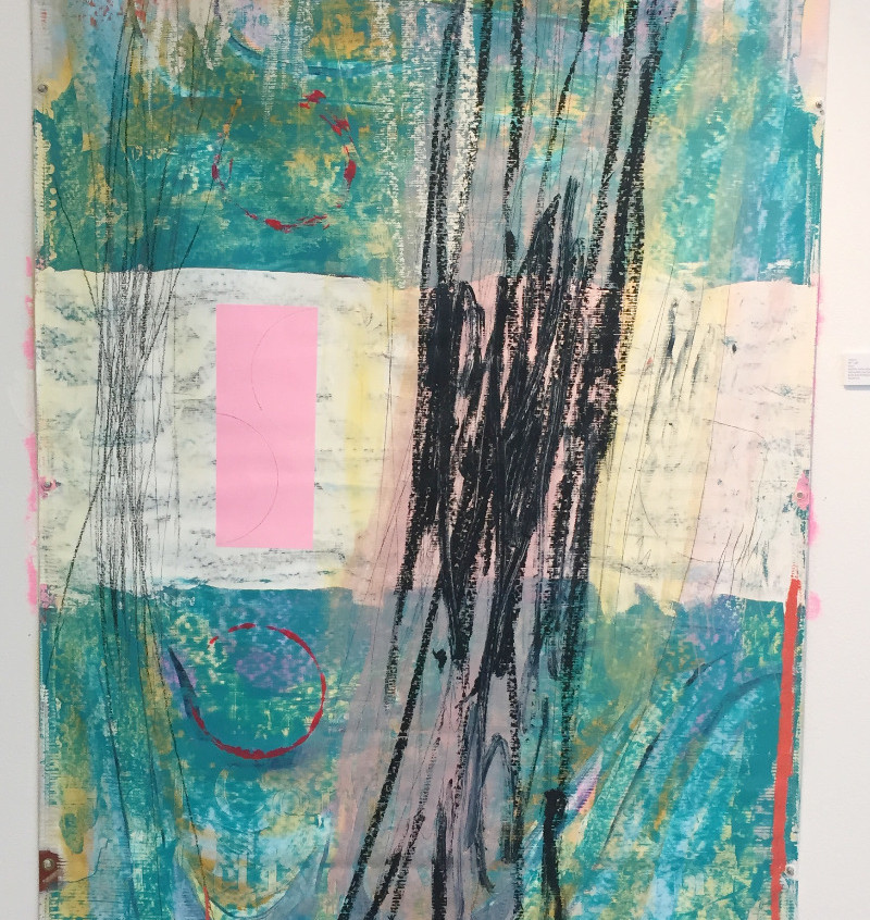Reclaimed IAIA Exhibition Banner Painting
