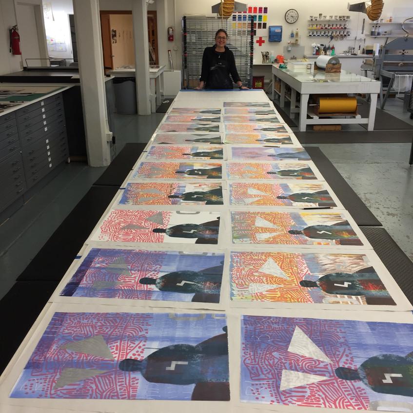 Ka'ila's Monoprint Series