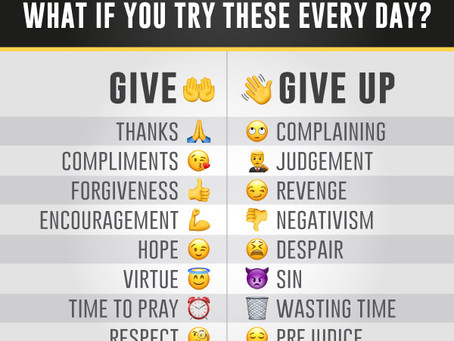 What if you try these everyday?