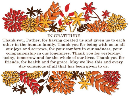 Prayer of Thanksgiving for Your Thanksgiving Table