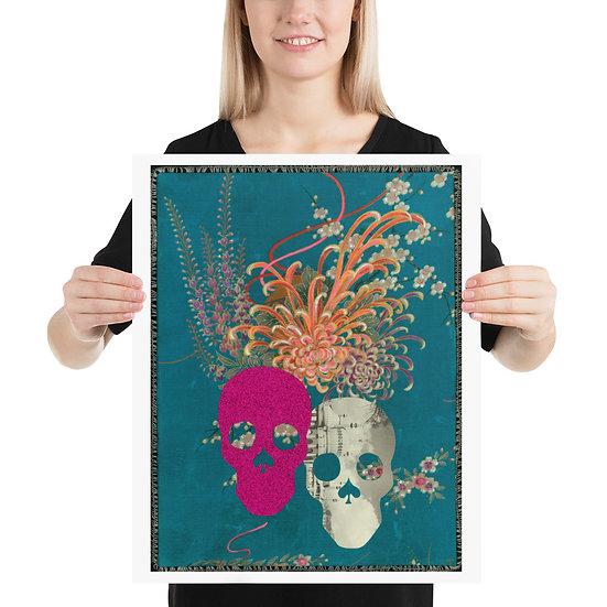 Double Skull Kimono Poster Available in 3 sizes