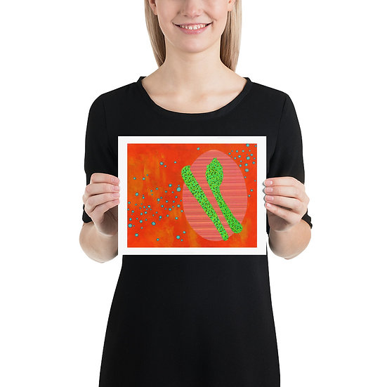 Serpent and Egg Orange, Pink, and Green 8x10 Poster