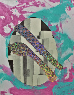 Brutalist Rainbow Serpent and Egg