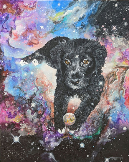 17x20 Cosmic Pet Commission