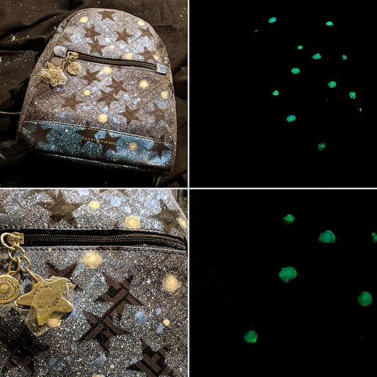 One of a kind Starry Glow in the dark Backpack