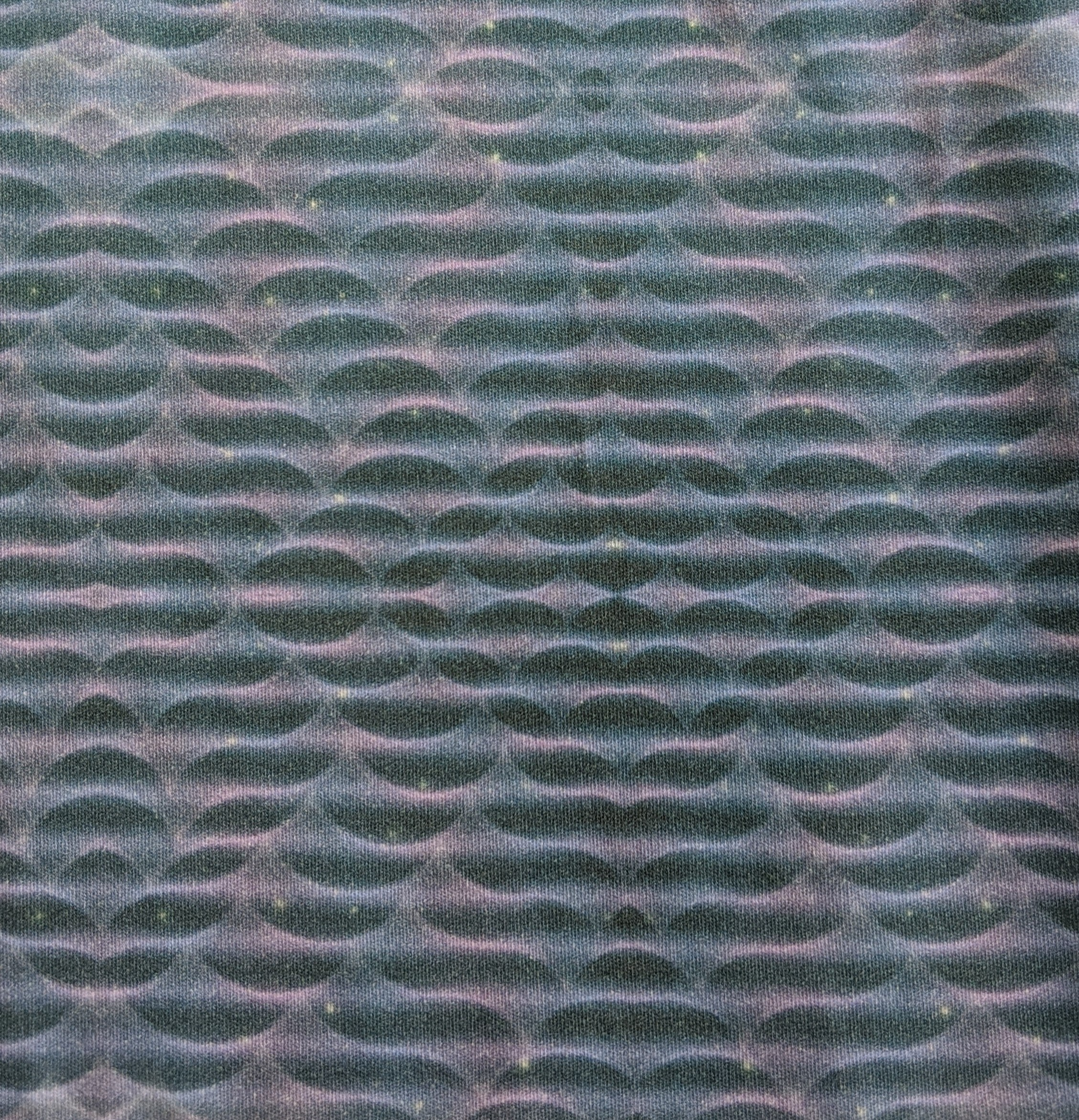 Pastel Space Waves on Drak Grey