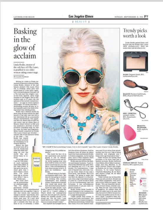 Linda Rodin interview by Alene Dawson for the Los Angeles Times