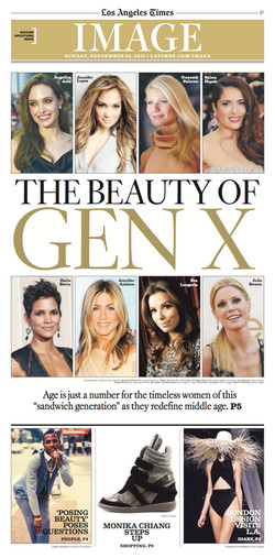 Los Angeles Times Cover - Gen X Women Young For Their Age by Alene Dawson