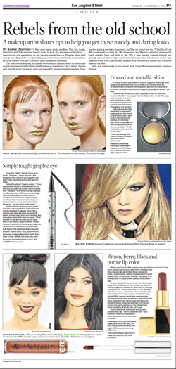 Edgy, '90s Makeup by Alene Dawson for the LA Times