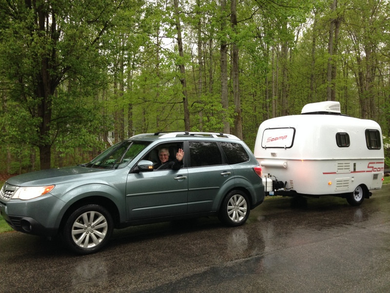 Leaving on my trip from Richmond, VA, to Portland, OR, with Ruth (car) & Idgie (camper)