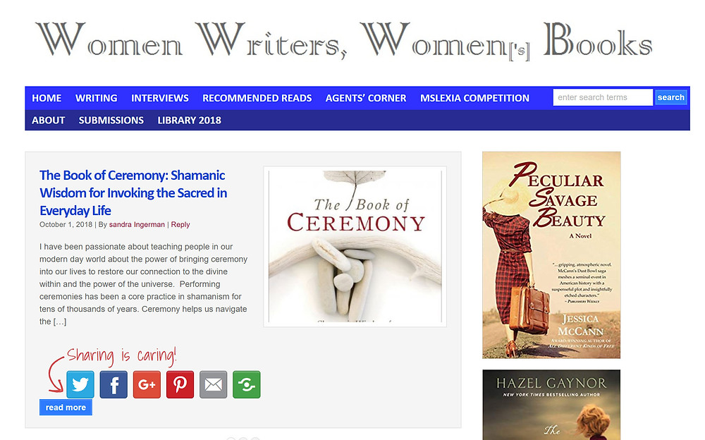 Women Writers, Women's Book website home page
