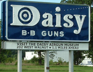 Daisy BB Guns sign outside the plant in Rogers AR