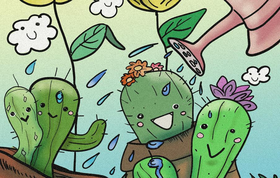happy cacti original design