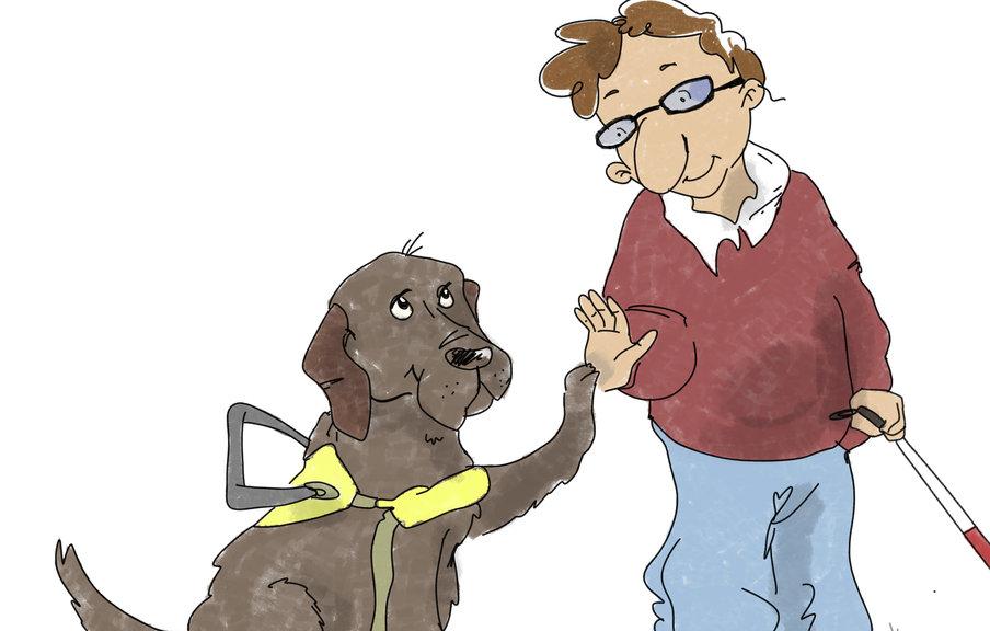 art for Lara Dog guide school for blind