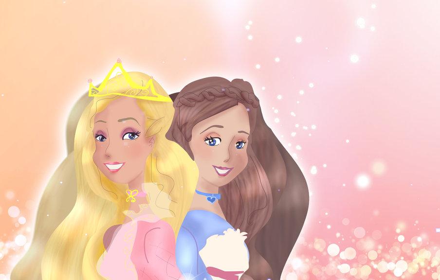 Μy sister and I as Barbies