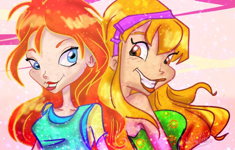 Winx Fanart Stella and Bloom