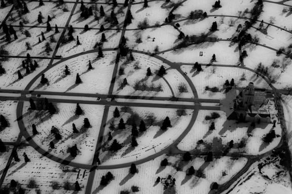 Aerial view of the Olinger Crown Hill Mortuary outside of Denver By Jeremiah Johnson