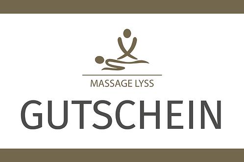 Gutschein für Massage nach Wahl
