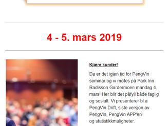 Seminar 4. - 5. mars 2019