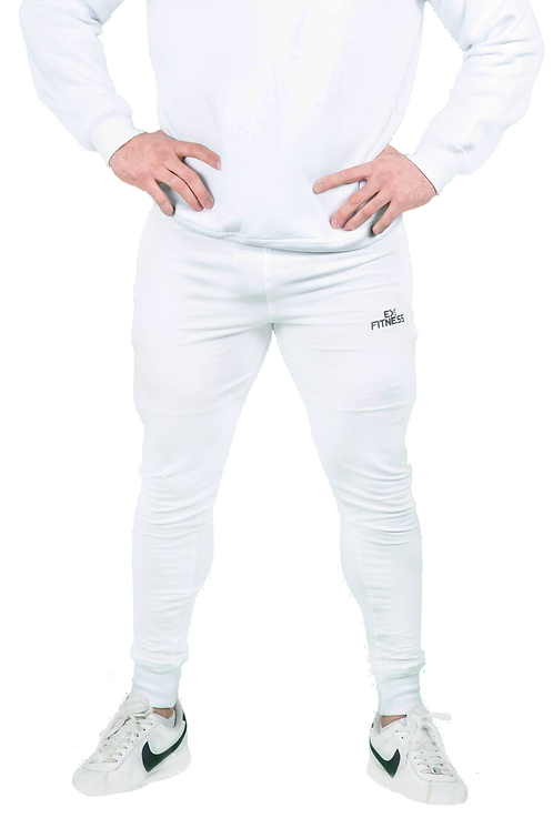Tapered Joggers (White)