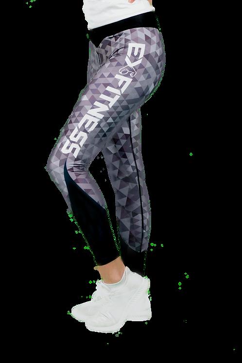 Geometric Leggings (Grey)
