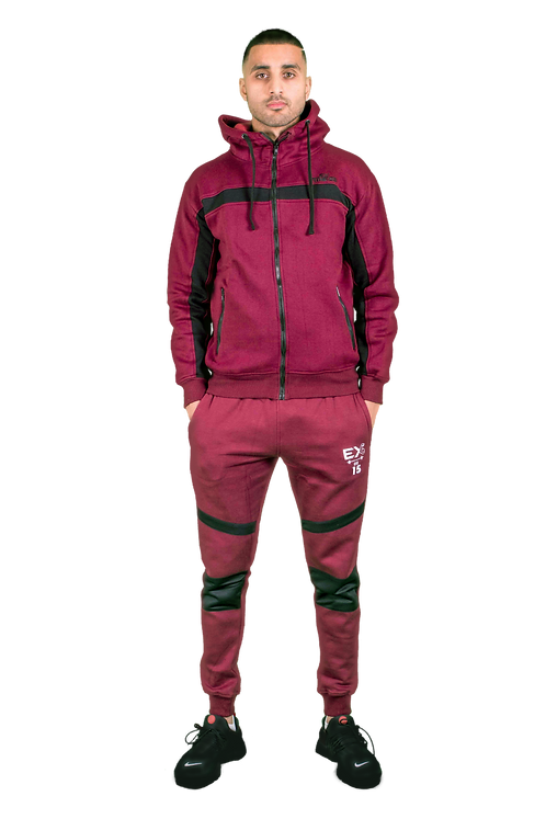 Hybrid Zip Jacket (Burgundy)