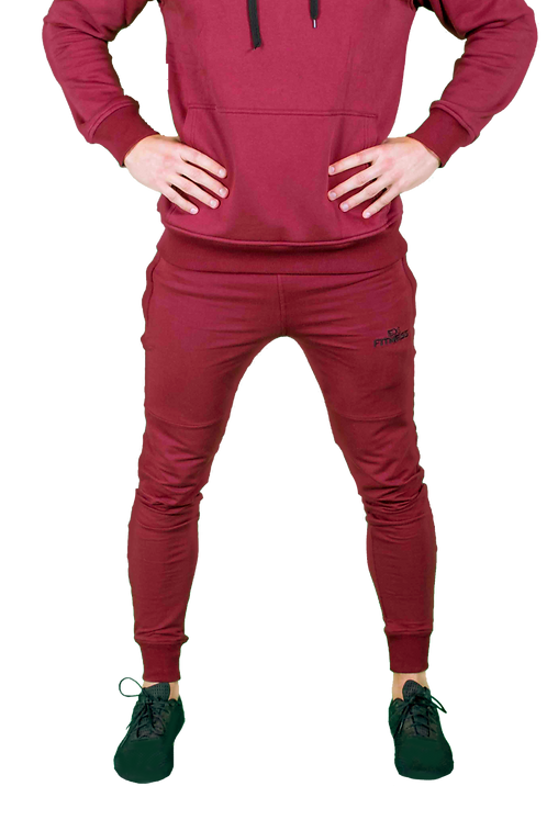 Tapered Joggers (Burgundy)