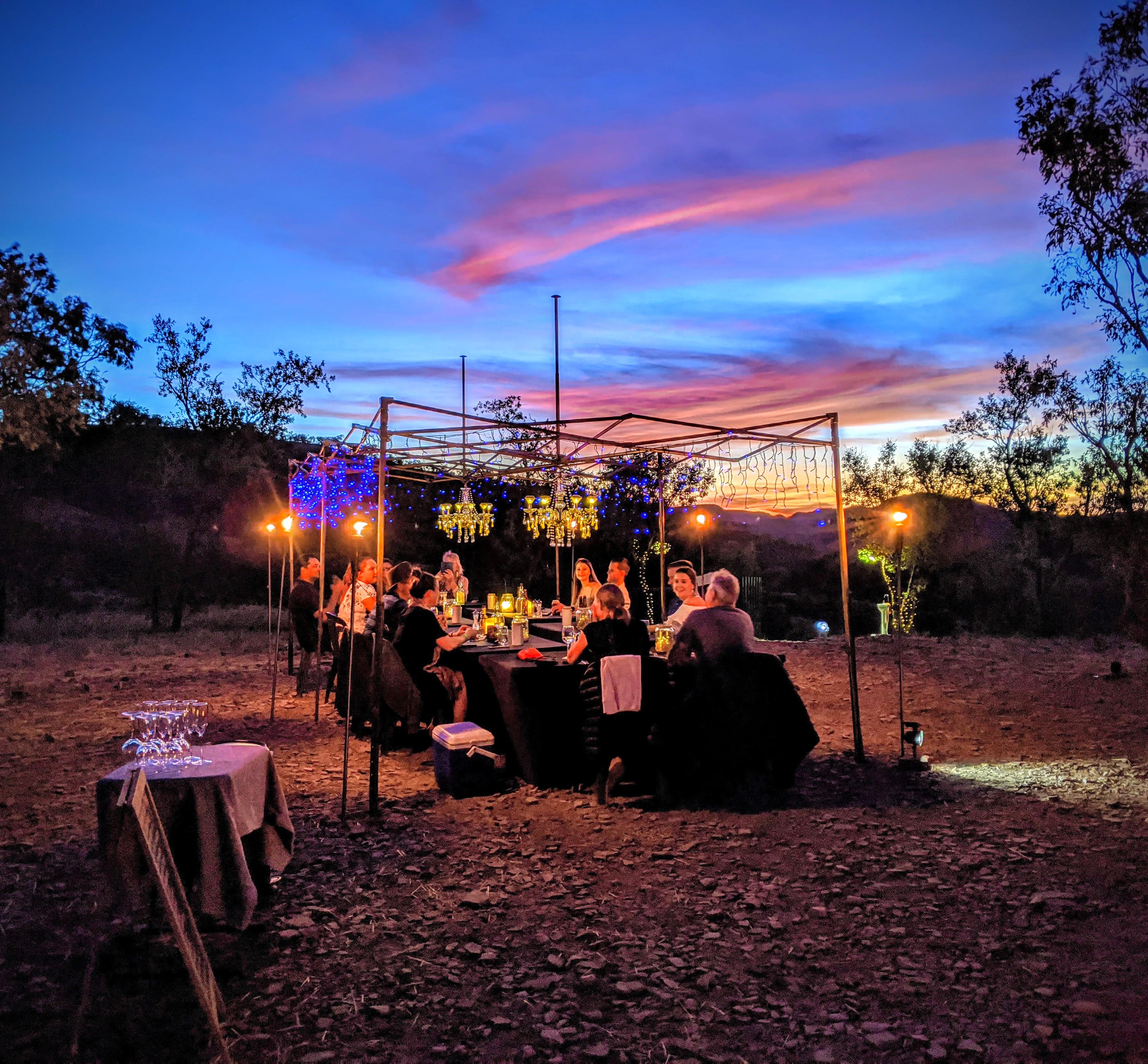 BUSH CAMP DINNER LAKE ARGYLE