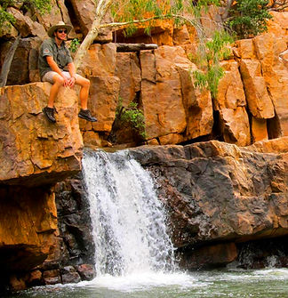 Josh Melville on Kimberley waterfall