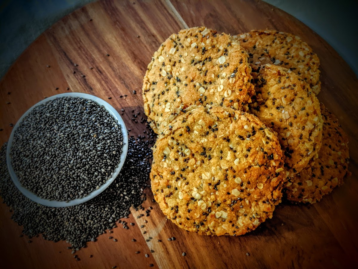 Chia Seed ANZAC Biscuit - A Taste Of The Ord Valley