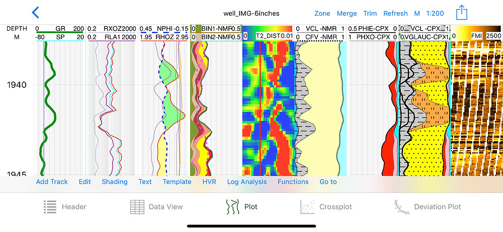 T2 NMR processing