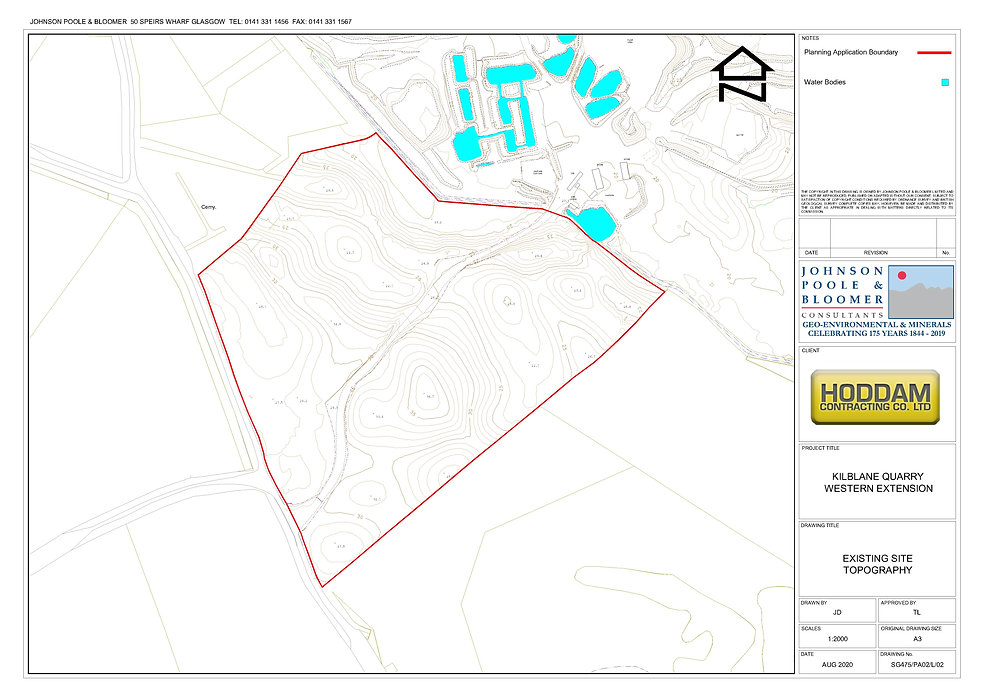 SG475-PA02-L-02 - Existing Site Topograp