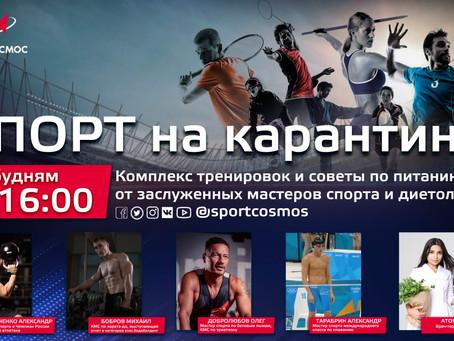 Стартовал проект «Спорт на карантине»