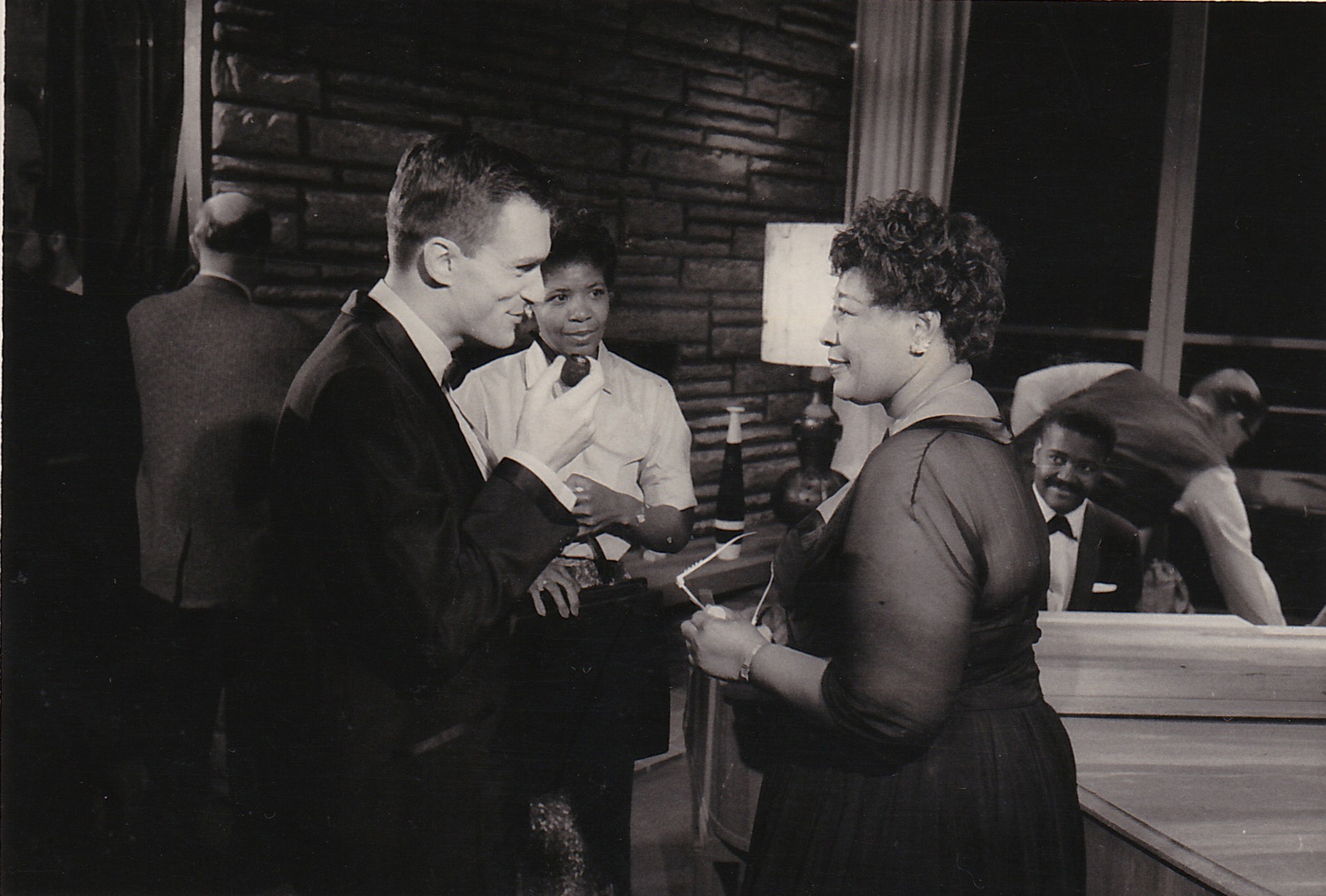 Hef and Ella Fitzgerald on the Playboy's Penthouse set in 1968