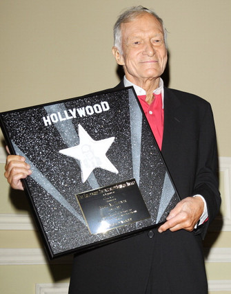Hef is honored at the 2012 Heroes of Hollywood Luncheon