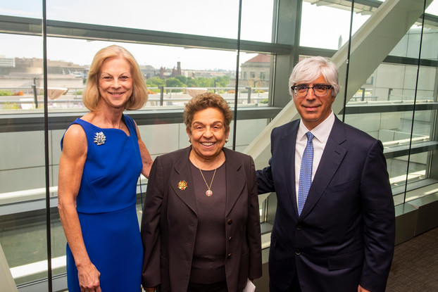Christie Hefner, Rep. Donna Shalala, and Law winner Ted Boutrous