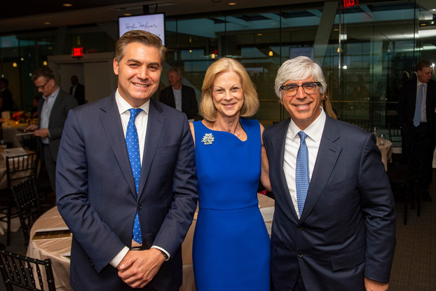 Jim Acosta, Christie Hefner, and Law winner Ted Boutrous
