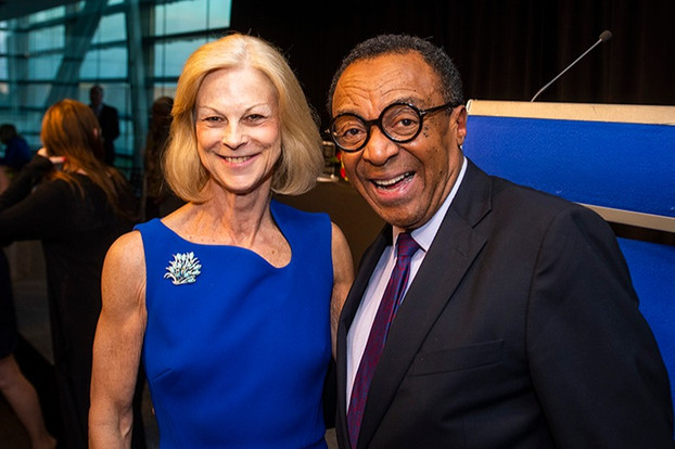 Christie Hefner and past First Amendment Awards judge, Clarence Page