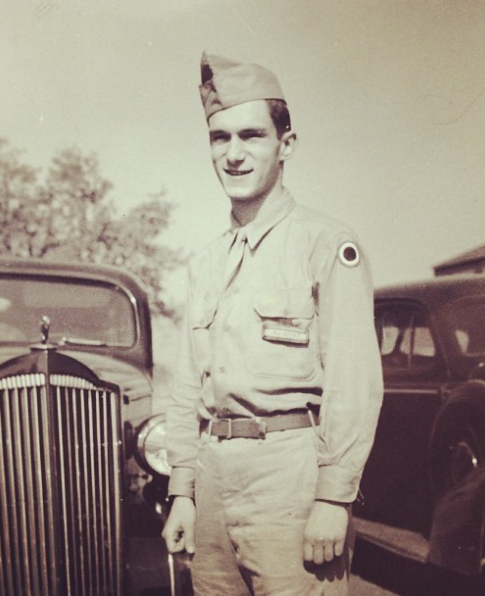 Hef in his Army uniform
